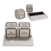 Icon Action Dice-Horizontal Signature Engraved