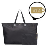 Tumi Just in Case Black Travel Duffel-Greek Letters Engraved Engraved