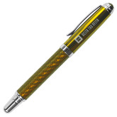 Carbon Fiber Gold Rollerball Pen-Horizontal Signature Engraved