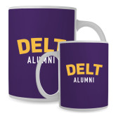Alumni Full Color White Mug 15oz-Delt Alumni