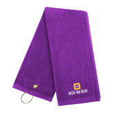 Purple Golf Towel-Stacked Signature