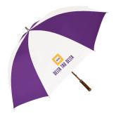 64 Inch Purple/White Umbrella-Stacked Signature