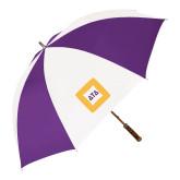 64 Inch Purple/White Umbrella-Badge