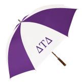 64 Inch Purple/White Umbrella-Greek Letters