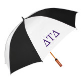 62 Inch Black/White Vented Umbrella-Greek Letters