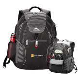 High Sierra Big Wig Black Compu Backpack-Horizontal Signature