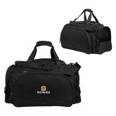 Challenger Team Black Sport Bag-Stacked Signature