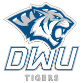 Extra Large Decal-DWU Tigers w/ Tiger Head