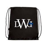 Black Drawstring Backpack-University Mark