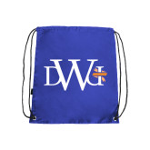 Royal Drawstring Backpack-University Mark
