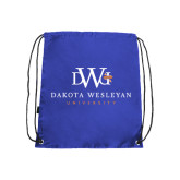 Royal Drawstring Backpack-University Combination Mark Stacked