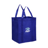 Non Woven Royal Grocery Tote-DWU Tigers w/ Tiger Head
