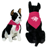 Fuchsia Pet Bandana-Tiger Head