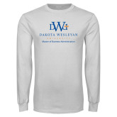 White Long Sleeve T Shirt-Master Of Business