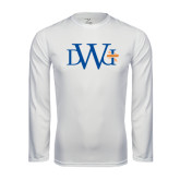 Performance White Longsleeve Shirt-University Mark