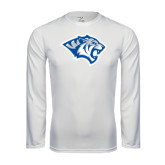 Performance White Longsleeve Shirt-Tiger Head