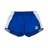 Ladies Royal/White Team Short-DWU Tigers w/ Tiger Head