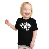 Toddler Black T Shirt-Tiger Head