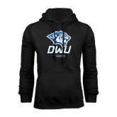 Black Fleece Hoodie-DWU Tigers w/ Tiger Head