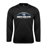 Performance Black Longsleeve Shirt-Dakota Wesleyan Football Horizontal