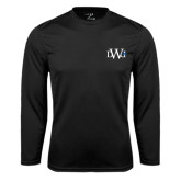 Performance Black Longsleeve Shirt-University Mark