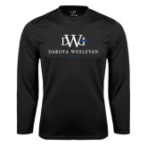 Performance Black Longsleeve Shirt-University Combination Mark Stacked