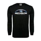 Black Long Sleeve TShirt-Dakota Wesleyan Football Horizontal