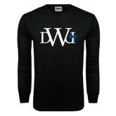 Black Long Sleeve TShirt-University Mark
