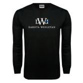 Black Long Sleeve TShirt-University Combination Mark Stacked