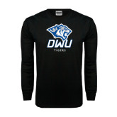 Black Long Sleeve TShirt-DWU Tigers w/ Tiger Head