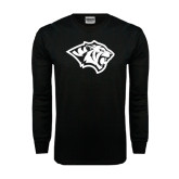 Black Long Sleeve TShirt-Tiger Head