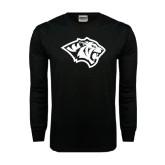 Black Long Sleeve TShirt-Tiger Head
