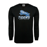 Black Long Sleeve TShirt-Tigers w/ Full Tiger