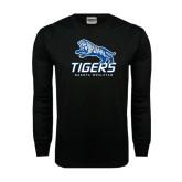 Black Long Sleeve TShirt-Tigers w/ Full Tiger