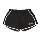 Ladies Black/White Team Short-University Mark
