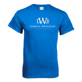 Royal T Shirt-University Combination Mark Stacked