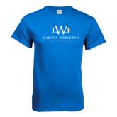 Royal T Shirt-University Combination Mark Stacked