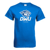 Royal T Shirt-DWU Tigers w/ Tiger Head