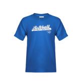 Youth Royal T Shirt-Softball Script