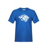 Youth Royal T Shirt-Tiger Head