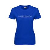 Ladies Royal T Shirt-University Logotype Stacked