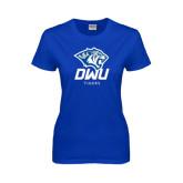 Ladies Royal T Shirt-DWU Tigers w/ Tiger Head