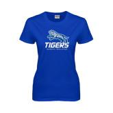 Ladies Royal T Shirt-Tigers w/ Full Tiger