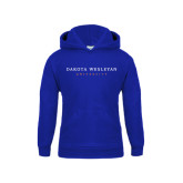 Youth Royal Fleece Hoodie-University Logotype Stacked