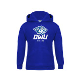 Youth Royal Fleece Hoodie-DWU Tigers w/ Tiger Head