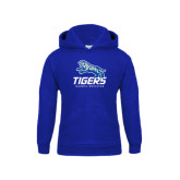 Youth Royal Fleece Hoodie-Tigers w/ Full Tiger
