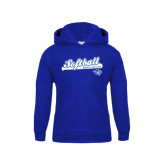 Youth Royal Fleece Hoodie-Softball Script
