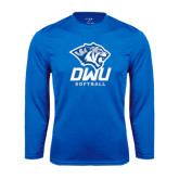 Performance Royal Longsleeve Shirt-Softball