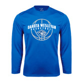 Performance Royal Longsleeve Shirt-Basketball Arched w/ Ball