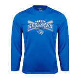 Performance Royal Longsleeve Shirt-Baseball Arched w/ Crossed Bats